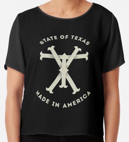 TX Texas Monogram Chiffon Top