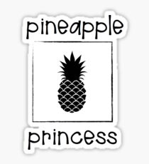 TROPICAL PINEAPPLE PRINCESS Sticker
