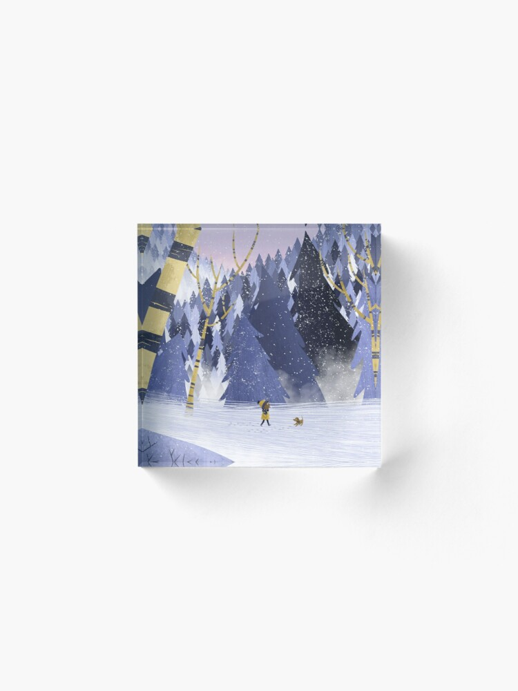 Alternate view of Forest Walk Acrylic Block