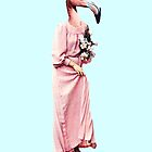 flamingo girl going to sunday church by Rosa Picnic
