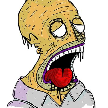Zombie Homer by Travnash