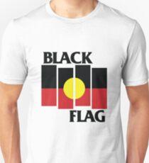 Black Flag Aboriginal Flag Design Unisex T-Shirt