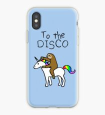 Zur Disco! (Faultier Unicorn) iPhone-Hülle & Cover