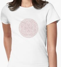 Rose gold marble mandala Women's Fitted T-Shirt