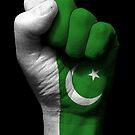 Flagge von Pakistan auf einer angehobenen geballten Faust von jeff bartels