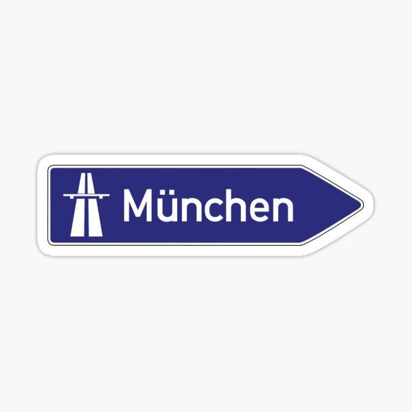 Munchen autobahn sign Sticker