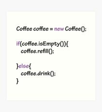 Coffee - code Art Print