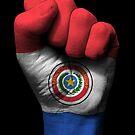 Flagge von Paraguay auf einer angehobenen geballten Faust von jeff bartels