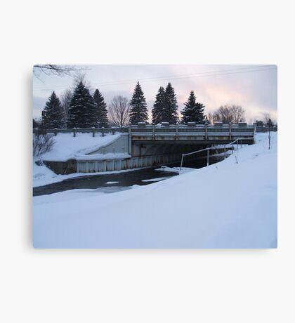 Winter dam 2 Canvas Print