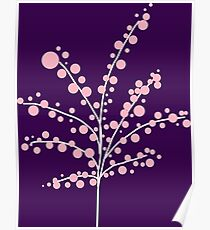 Blush Pink Blossom Tree : Violet Purple Poster