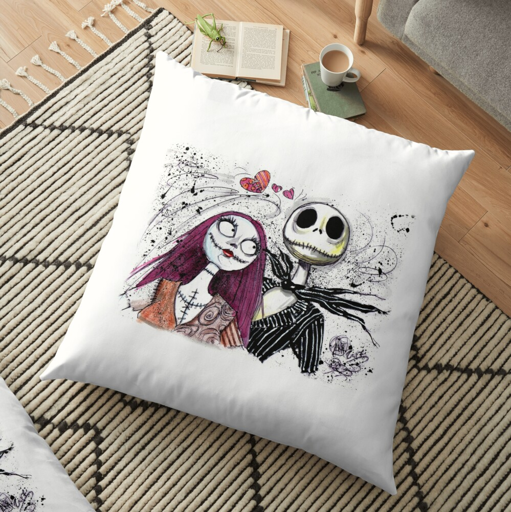Jack and Sally Floor Pillow