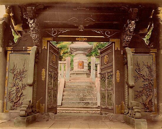 Bronze gate, Shoguns Tomb, Shiba, Tokyo by Fletchsan