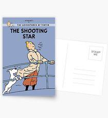 Tintin Shooting Star  Postcards