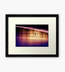 Great Egret Waits Patiently Framed Print