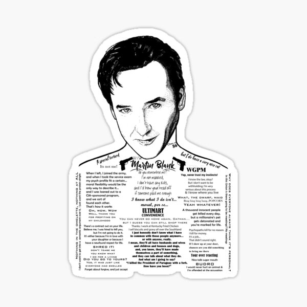 Grosse Pointe Blank - John Cusack Ink'd Series Sticker