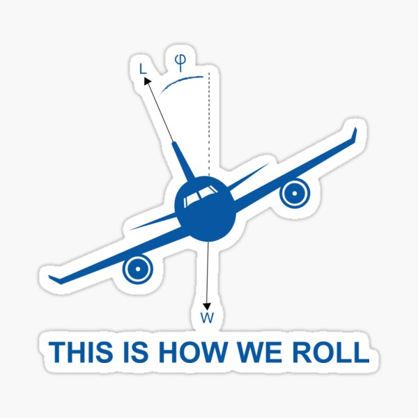 This is How We Roll Aviation  Sticker