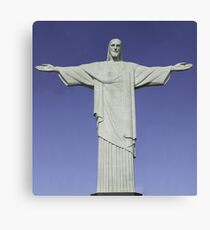 Detailed closeup of the Christ the Redeemer statue in Brazil Canvas Print