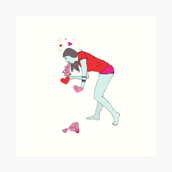 Barf Valentine Art Print