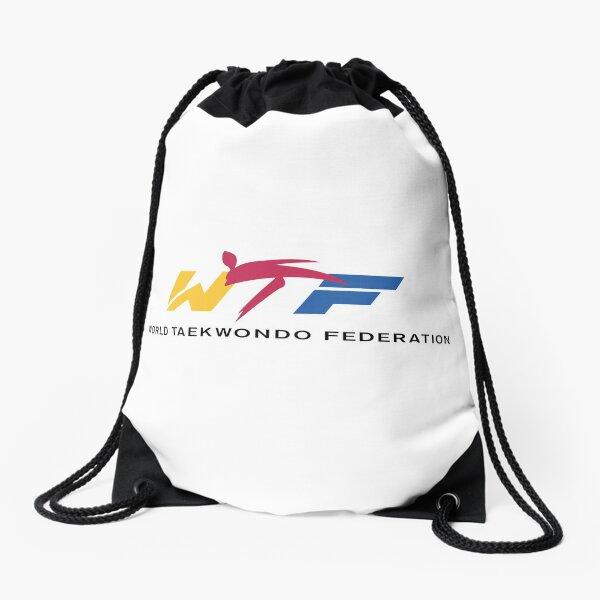 world taekwondo federation Drawstring Bag