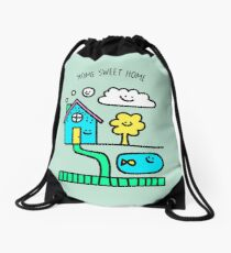 Home Sweet Home Drawstring Bag