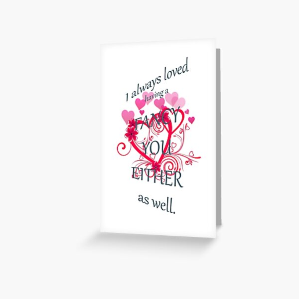 Undateables Fancy You Either Greeting Card