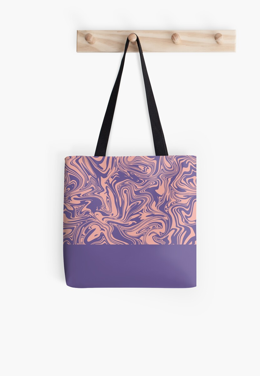 Liquid Swirl - Peach Bud and Ultra Violet by Printables Passions