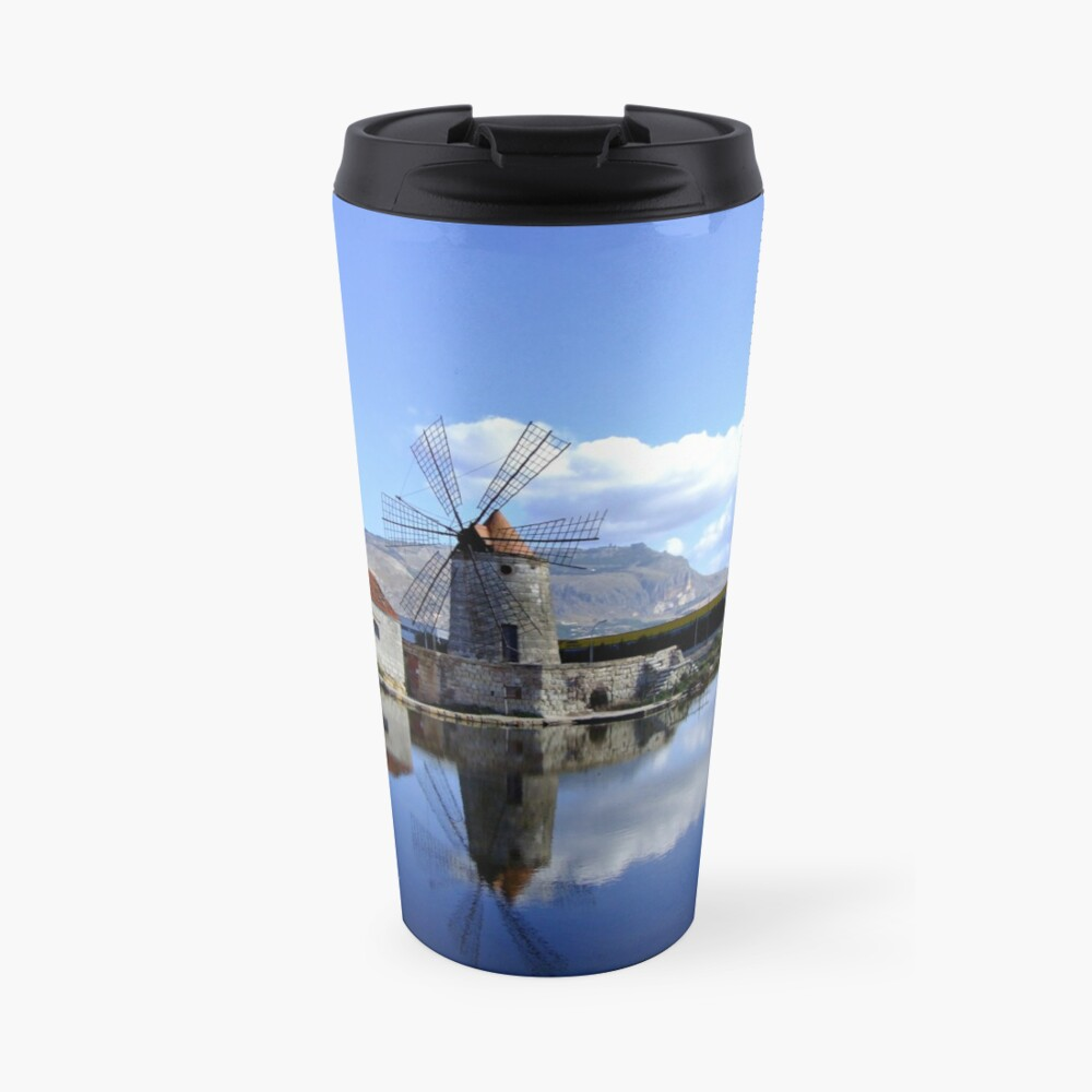 windmill & saltpan Travel Mug