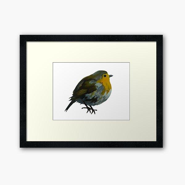 Fat Bird Framed Art Print
