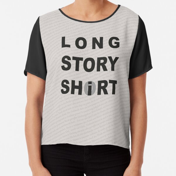 Long Story Short / Shirt Chiffon Top
