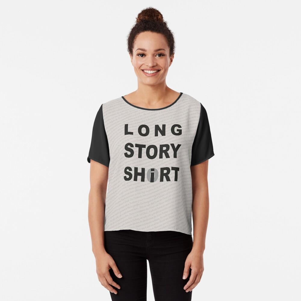 Long Story Short / Shirt Chiffon Top