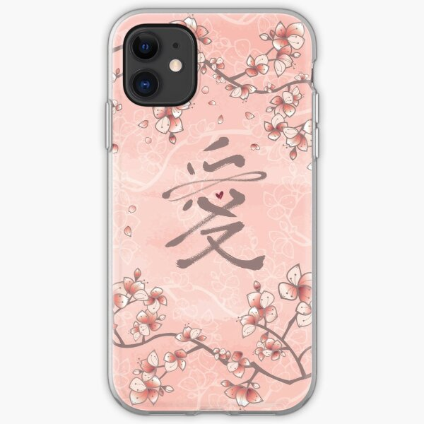 Ten Miles Of Pink Peach Blossoms And Eternal Love Chinese Calligraphy II iPhone Soft Case