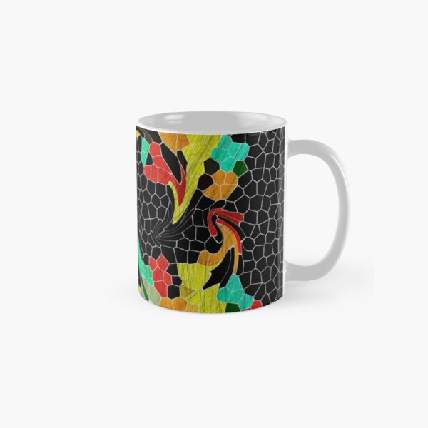 Hungry Chicks Abstract Stained Glass Mosaic Classic Mug