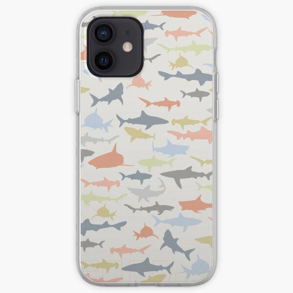 Feeding Frenzy Sharks (FINvites) iPhone Soft Case