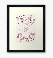 Ten Miles Of Pink Peach Blossoms Framed Print
