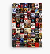 Stephen King Novels Canvas Print