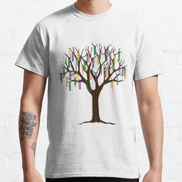 Tulane Mardi Gras Bead Tree Classic T-Shirt