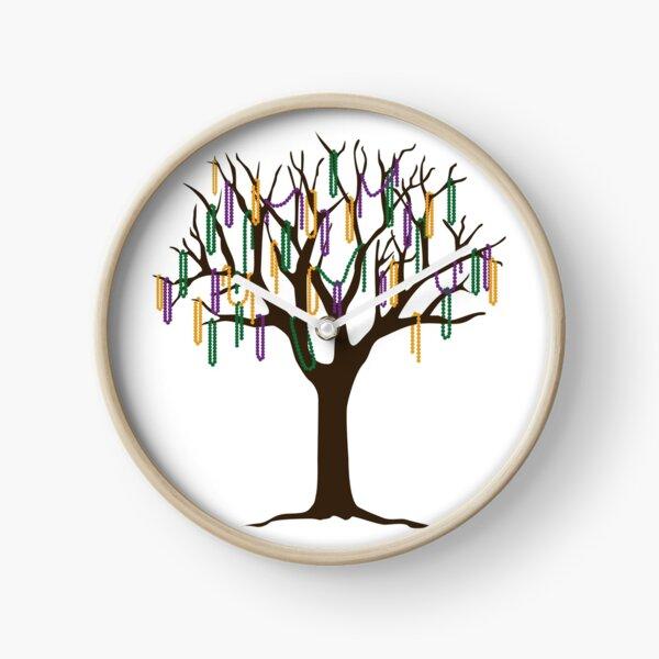 Tulane Mardi Gras Bead Tree Clock