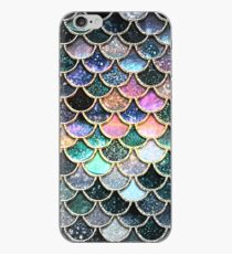 Silver and Metal Sparkle Faux Glitter Mermaid Scales iPhone Case