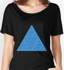 Sierpinski Cube Triangle Women's Relaxed Fit T-Shirt