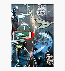 Graffiti Colorful detail on a textured wall Photographic Print