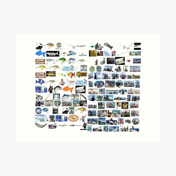 ♥fishing♥, fishing, fish, sport,  fishery, piscatorial, piscatory, catching fish, fisherman Art Print