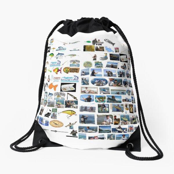 ♥fishing♥, fishing, fish, sport,  fishery, piscatorial, piscatory, catching fish, fisherman Drawstring Bag