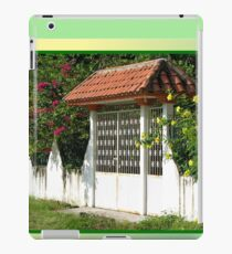 Decorative Entry-way with Flowers iPad Case/Skin