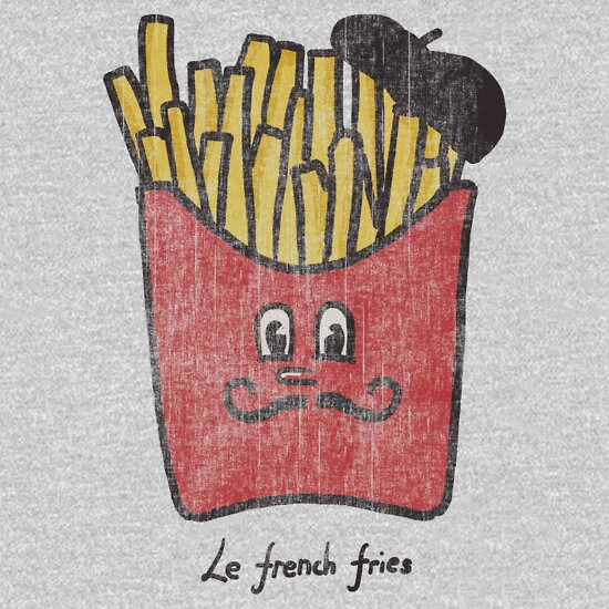 TShirtGifter presents: Le French fries | Unisex T-Shirt
