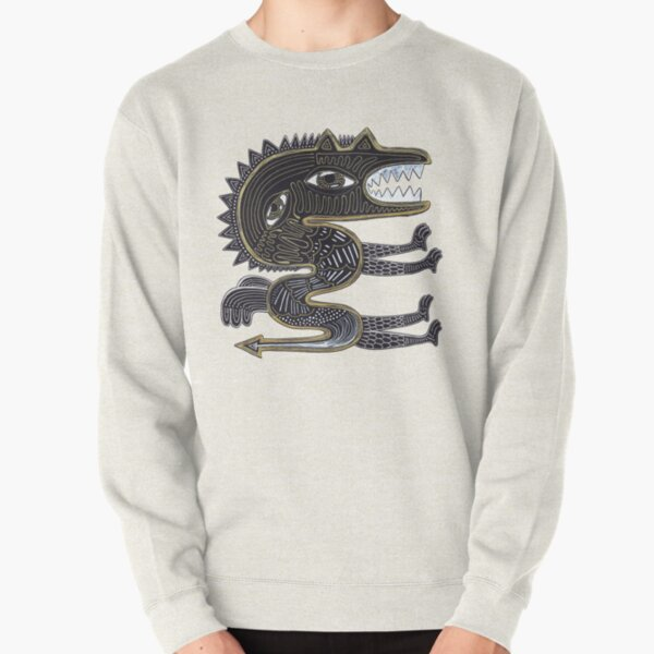 decorative surreal dragon Pullover Sweatshirt