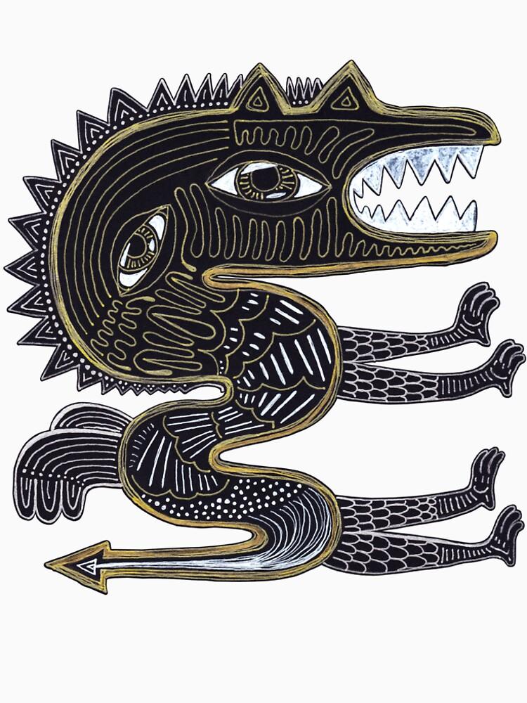 decorative surreal dragon by nuanz