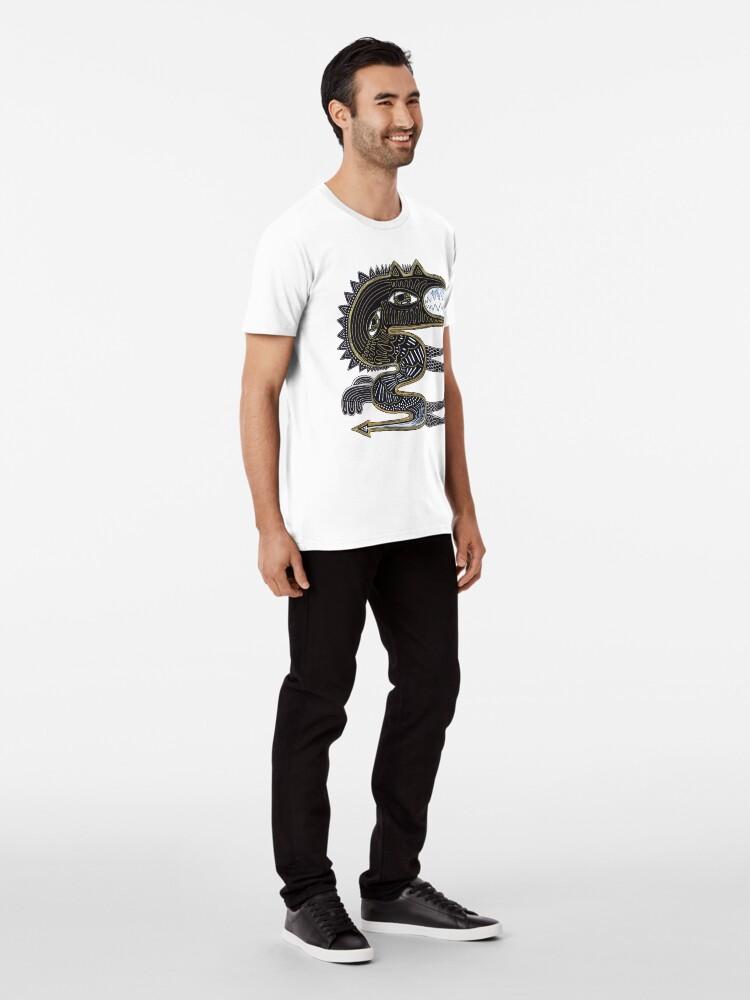 Alternate view of decorative surreal dragon Premium T-Shirt