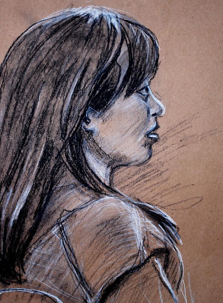 Portrait of Kazuyo Hira by Heidi Zito