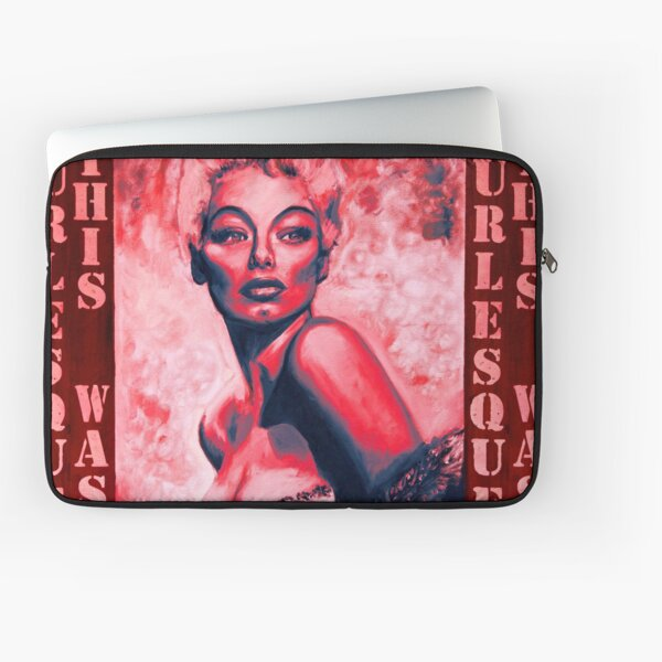 """""""THIS WAS BURLESQUE"""" - LILI ST.CYR PORTRAIT RED WASH Laptop Sleeve"""