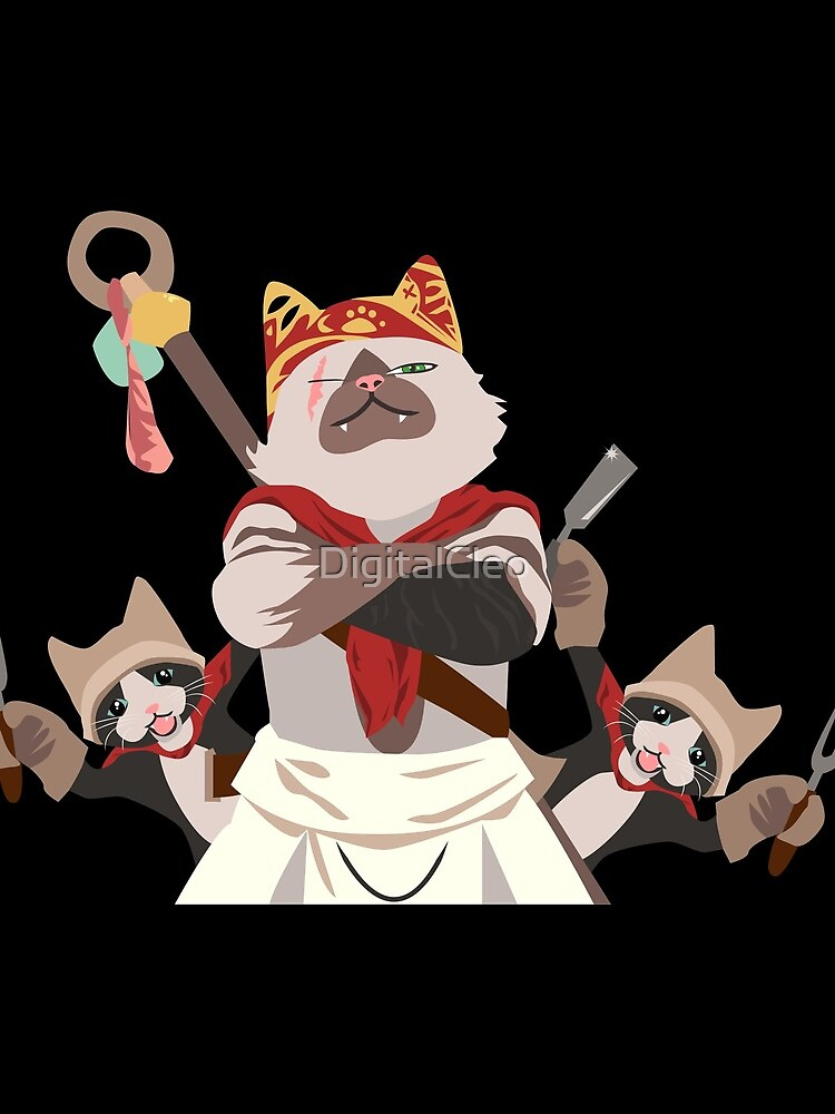 Meowscular Chef and his crew by DigitalCleo